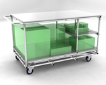 mobile industrial storage trolley