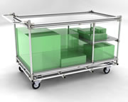 Versatile kitting trolley with solid top