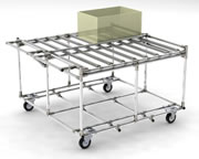 Tray trolleys with large top surface