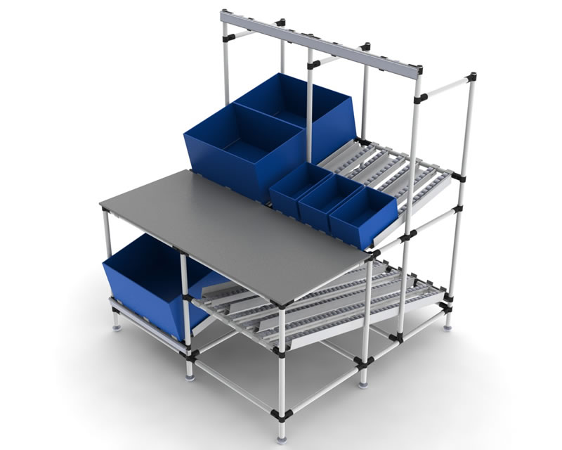 Ergonomic Assembly Workstation : Workstations flowtube work benches ergonomic lean